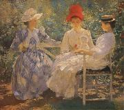 Edmund Charles Tarbell Three Sisters A Study in June Sunlight oil painting picture wholesale