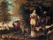 Edward Hicks Peaceable Kingdom oil