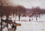 Edward Simmons Boston Public Gardens oil painting picture wholesale