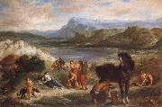 Ferdinand Victor Eugene Delacroix Ovid among the Scythians oil painting picture wholesale
