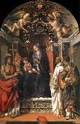 Fra Filippo Lippi The Madonna and the Nno enthroned with the holy juan the Baptist, Victor Bernardo and Zenobio oil painting picture wholesale