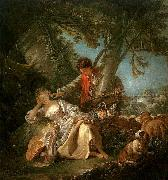 Francois Boucher The Interrupted Sleep oil painting picture wholesale