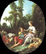 Francois Boucher Are They Thinking About the Grape oil painting picture wholesale
