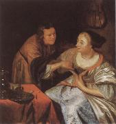 Frans van Mieris Carousing Couple oil painting picture wholesale