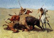 Frederic Remington The Buffalo Hunt oil painting picture wholesale