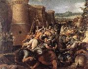 GIuseppe Cesari Called Cavaliere arpino St Clare with the Scene of the Siege of Assisi oil painting picture wholesale