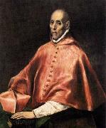 GRECO, El Portrait of Cardinal Tavera oil painting