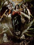 GRECO, El The Virgin of the Immaculate Conception oil painting