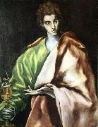 GRECO, El Apostle St John the Evangelist oil painting