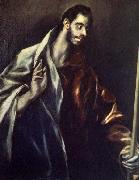 GRECO, El Apostle St Thomas oil painting