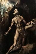 GRECO, El Saint Jerome Penitent oil painting
