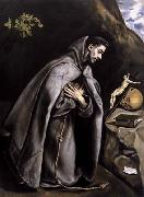 GRECO, El St Francis Meditating oil painting