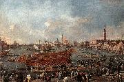 GUARDI, Francesco The Doge on the Bucintoro near the Riva di Sant-Elena oil painting picture wholesale