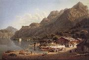 Gabriel Lory fils Vue of Fluhlen, in Suisse oil painting picture wholesale