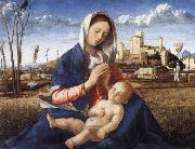 Gentile Bellini The Madonna of the Meadow oil painting picture wholesale