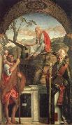 Gentile Bellini Saints Christopher,Jerome,and Louis oil painting picture wholesale