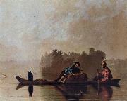 George Caleb Bingham Fur Traders Descending the Missouri oil painting picture wholesale