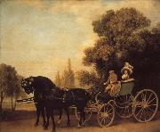George Stubbs A Gentleman Driving a Lady in a Phaeton oil painting picture wholesale