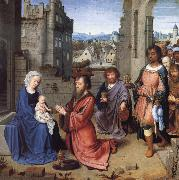 Gerard David The Adoration ofthe Kings oil painting picture wholesale