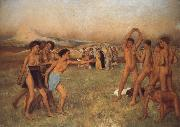 Germain Hilaire Edgard Degas Young Spartans Exercising oil painting picture wholesale
