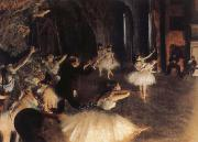 Germain Hilaire Edgard Degas The Rehearsal of the Ballet on Stage oil painting picture wholesale