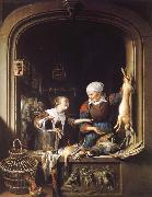 Gerrit Dou A Poulterer-s Shop oil painting picture wholesale