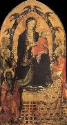 Gherardo Starnina The Madonna and the Nino with San Juan the Baptist, San Nicolas and four angeles oil painting picture wholesale