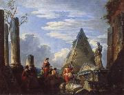 Giovanni Paolo Pannini Roman Ruins with Figures oil painting picture wholesale
