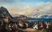 HESS, Heinrich Maria von The Entry of King Othon of Greece into Nauplia oil painting picture wholesale