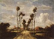HOBBEMA, Meyndert The avenue in Middelharnis oil painting reproduction