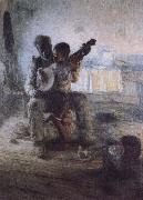 Henry Ossawa Tanner The first lesson oil painting