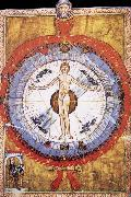 Hildegard of Bingen Her Cosmiarcha,Coreadora and Parent of the Humanity and of humankind oil painting
