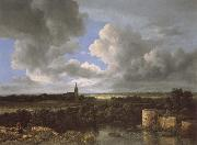 Jacob van Ruisdael A Landscape with a Ruined Castle and a Church oil painting picture wholesale