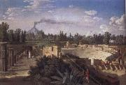 Jakob Philipp Hackert View of the Ruins of the Antique Theatre of Pompei oil painting artist
