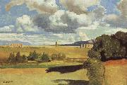 Jean Baptiste Camille  Corot The Roman Campagna,with the Claudian Aqueduct oil painting picture wholesale