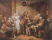 Jean Baptiste Greuze L-Accordee de Village oil painting picture wholesale