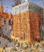 Jean Fouquet The building of the temple to jerusalem, from Flavius Josephus De antiquity skills and wars of the Jews oil painting picture wholesale