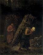 Jean Francois Millet Peasant Women Carrying Firewood oil painting picture wholesale