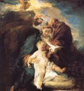 Jean antoine Watteau The rest in the flight to Egypt oil painting picture wholesale