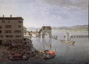 Johann Jakob Meyer Seen taken pres of l-auberge of the Crow has Zurich oil painting picture wholesale