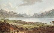 Johann Ludwig Aberli Seen Vevey oil painting picture wholesale