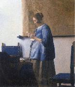 Johannes Vermeer Woman Reading a Letter oil painting artist