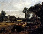 John Constable Boat-Building on the Stour oil painting picture wholesale