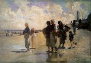 John Singer Sargent THe Oyster Gatherers of Cancale oil painting picture wholesale