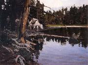 Johnson, Frank Tenney Cove in Yellowstone Park oil painting picture wholesale