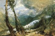 Joseph Mallord William Turner Glacier and source of the Avyron, Chamonix oil painting picture wholesale