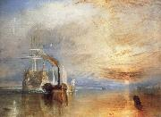 Joseph Mallord William Turner The Fighting Temeraire Tugged to Her Last Berth to be Broken Up oil painting picture wholesale