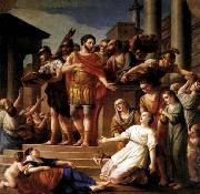 Joseph Marie Vien Marcus Aurelius Distributing Bread to the People oil painting picture wholesale