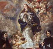 Juan de Valdes Leal The Immaculate Conception of the Virgin,with Two Donors oil painting picture wholesale
