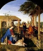 Julius Schnorr von Carolsfeld The Family of St John the Baptist Visiting the Family of Christ oil painting artist